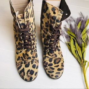 Steve Madden Leather Leopard Boots.